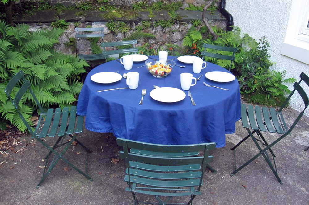 Dining area of garden